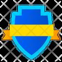 Shield And Ribbon Achievement Shield Shield Icon