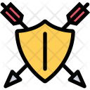 Shield Arrow Myth Icon