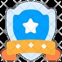Shield Badge Badge Laurel Wreath Icon
