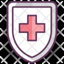Shield Care Medicine Icon