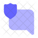 Shield Chat Bubble Secure Chat Protected Chat Icon