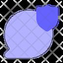 Shield-chat-bubble Icon