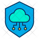 Shield Cloud Secure Connection Secure Cloud Computing Icon