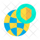 Shield Globe Icon