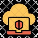 Cloud Laptop Data Icon
