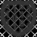Shield Lock Firewall Lock Icon