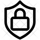 Badge Lock Protect Icon