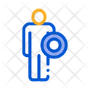 Shield Strong Man Icon