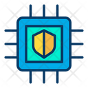Shield Microchip Icon