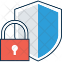 Shield With Lock Lock Protection Shield Icon