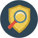 Shield with magnifier Icon