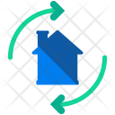 Flipping House Shift Icon