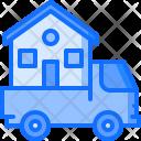 Truck Logistics Building Icon