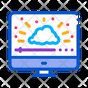 Shining Cloud Computer Icon