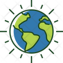 Shining Earth Shining Planet Icon