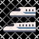 Shinkansen Metro Train Icon