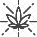 Marijuana Cannabis Shiny Icon