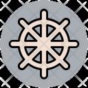 Ship Wheel Boat Icon