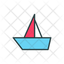 Ship Paper Boat Paper Toy Icon