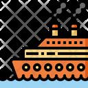 Ship Transportation Vacation Icon