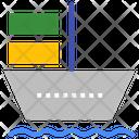 Ship Cargo Container Ship Icon