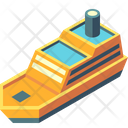 Ship Cruise Steamboat Icon