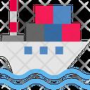 Logistics Delivery Ship Icon