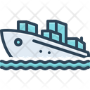 Ship Sailing Export Icon