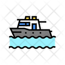 Boat Floating Sea Icon