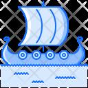 Ship Drakkar Viking Icon