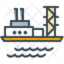 Sea Platform Ship Icon