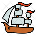 Pirate Ship Boat Icon