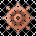 Ship Wheeltransportation Navigation Icon