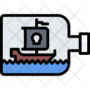 Ship Bottle Water Icon
