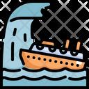 Ship Ship Capsized Natural Disaster Icon