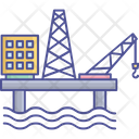 Ship Drilling Oil Rig Ship Drilling Ship Companies Icon