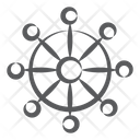 Ship Helm Control Wheel Ship Wheel Icon