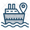 Sea Route Delivery Ship Sea Direction Icon