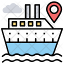 Ship Tracking Route Icon