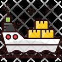 Ship Logistics Delivery Ship Cruise Ship Icon