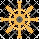 Ships Helm Boat Navigation Rudder Icon