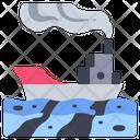 Pollution Ship Environment Icon