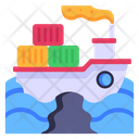 Water Pollution Cruise Pollution Ship Pollution Icon