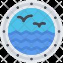 Porthole Ship Boat Icon