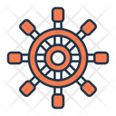Ship Rudder Rudder Ship Wheel Icon