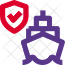 Ship Shield Secure Ship Ship Insurance Icon