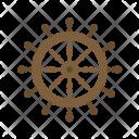 Ship Wheel Steering Icon