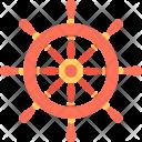Ship Steering Wheel Icon