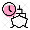 Ship Time Cargo Ship Time Delivery Time Icon