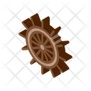 Wheel Silhouette Ship Icon